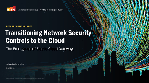 ESG ECG: Transitioning Network Security Controls to the Cloud
