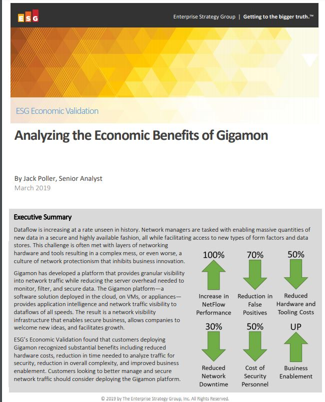 ESG Economic Validation Analyzing the Economic Benefits of Gigamon