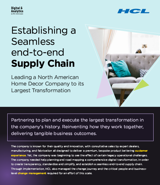Establishing a Seamless End-to-End Supply Chain