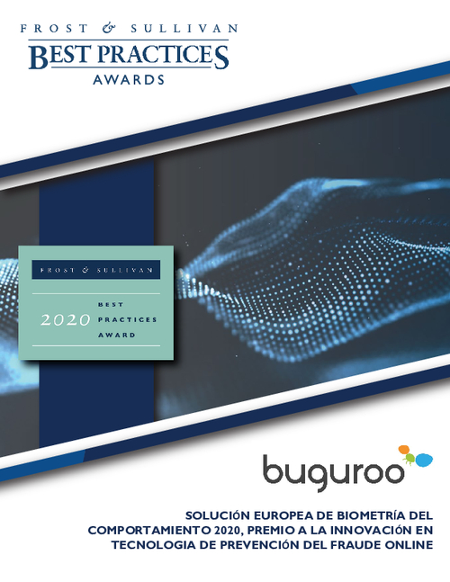 European Solution for Behavioral Biometry 2020: Award for Innovation in Online Fraud Technology (In Spanish)