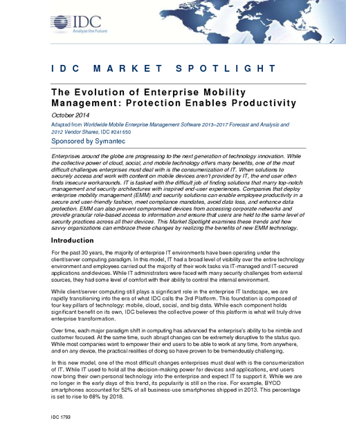Considerations for Crafting a Secure Enterprise Mobility Management Strategy