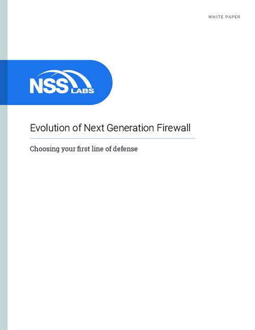 The Evolution of Next Generation Firewall