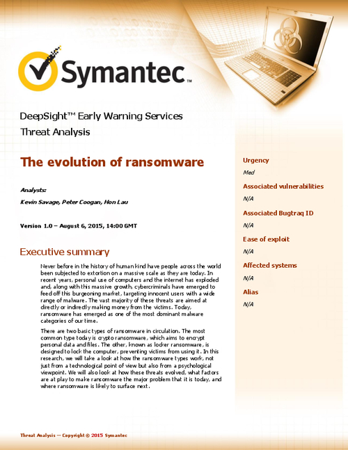 The Evolution of Ransomware - An In-Depth Analysis
