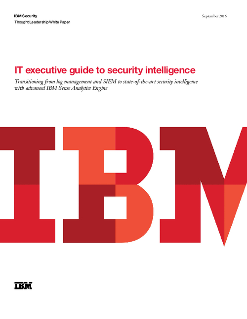 IT Executive Guide To Security Intelligence