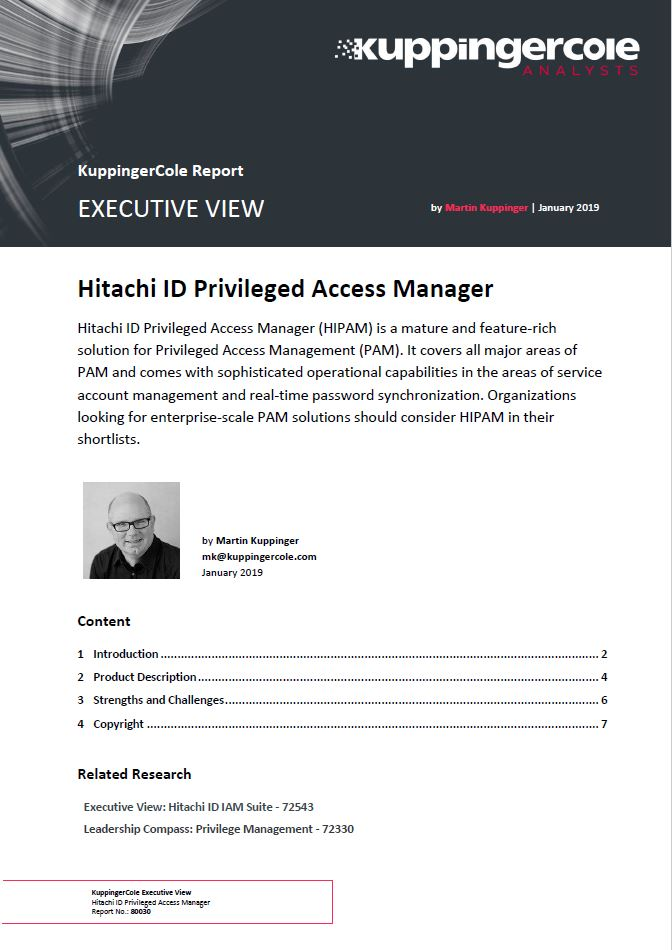 KuppingerCole Report Executive View: Privileged Access Management