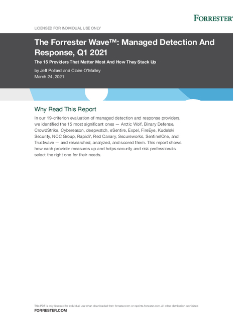 Expel is a Leader in The Forrester Wave™: Managed Detection And Response, Q1 2021