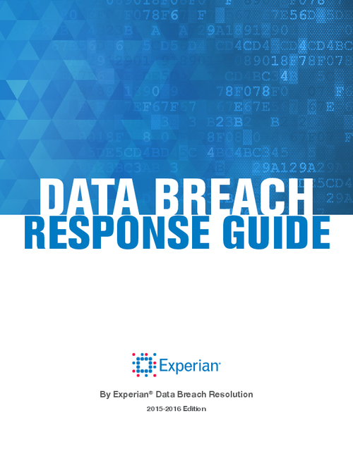 Experian's 2015-2016 Data Breach Response Guide