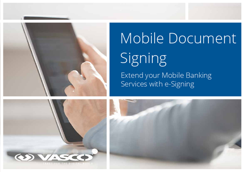 Extend Your Mobile Banking Services with e-Signing