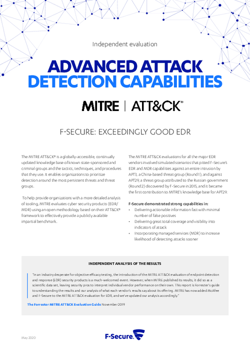 F-Secure Excels Again In the Mitre Att&Ck Evaluation