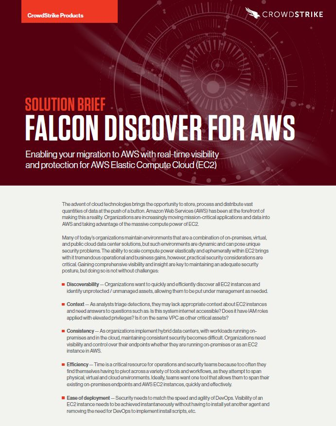 Falcon Discover AWS Solution Brief Report