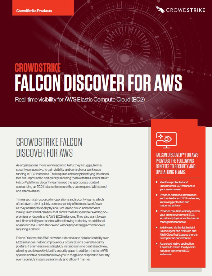 Falcon Discover for AWS Datasheet