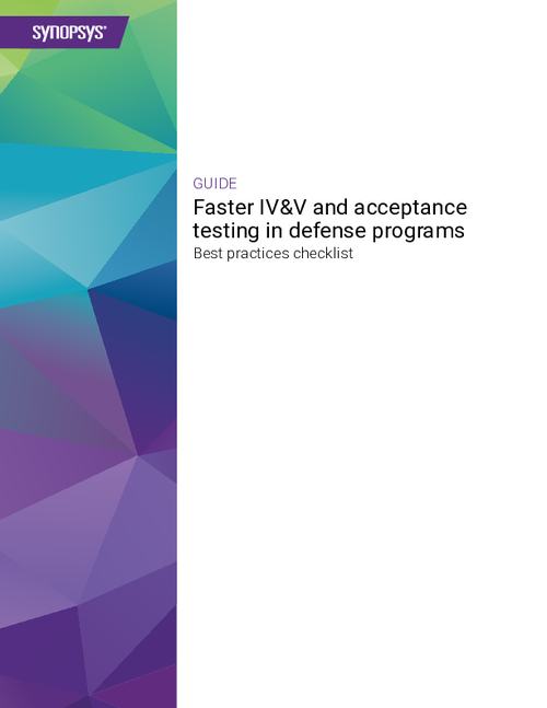 Faster IV&V and Acceptance Testing in Defense Programs Best Practices Checklist