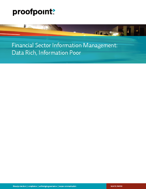 Financial Sector Information Management: Data Rich, Information Poor