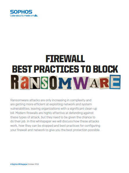 Firewall Best Practices to Block Ransomware