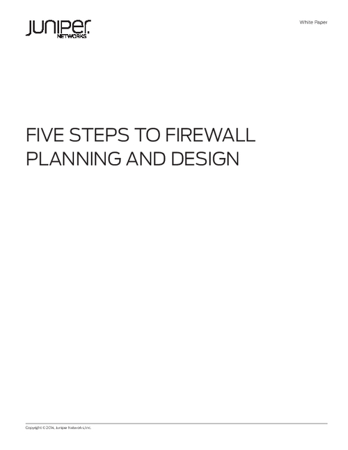 Five Steps to Firewall Planning and Design