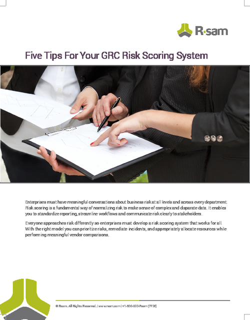 Five Tips For Your GRC Risk Scoring System