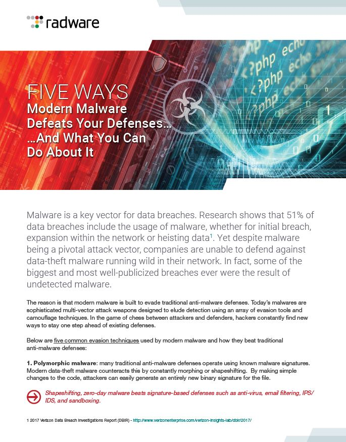 Five Ways Modern Malware Defeats Your Defenses... And What You Can Do About It