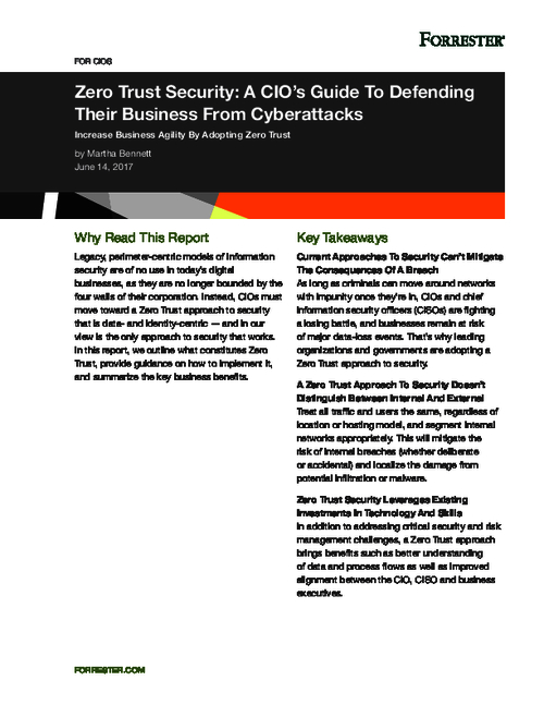 Increase Business Agility By Adopting Zero Trust