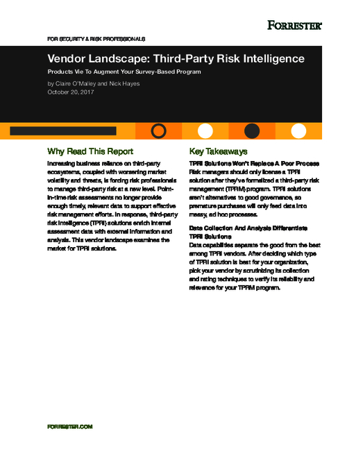 Forrester: Companies Need Better Third-Party Risk Context, Faster