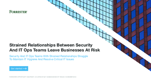 Forrester Consulting: Strained Relationship Between Security and IT Ops Teams Leave Businesses at Risk