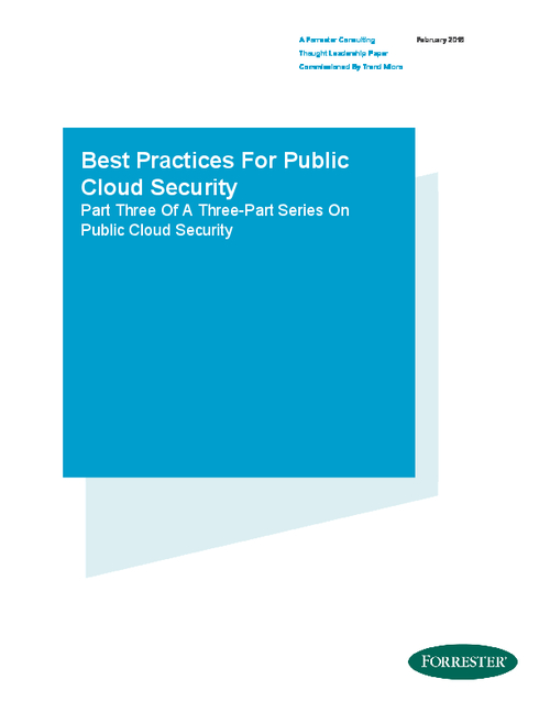 Forrester Report: Best Practices For Public Cloud Security