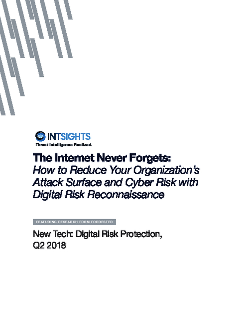 Forrester Report: How To Reduce Your Organization's Attack Surface & Cyber Risk with Digital Risk Reconnaissance
