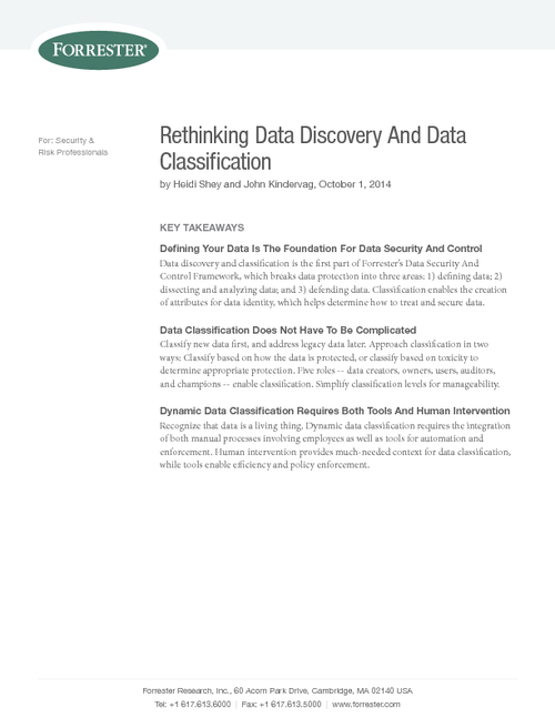 Data Risk Management: Rethinking Data Discovery and Classification