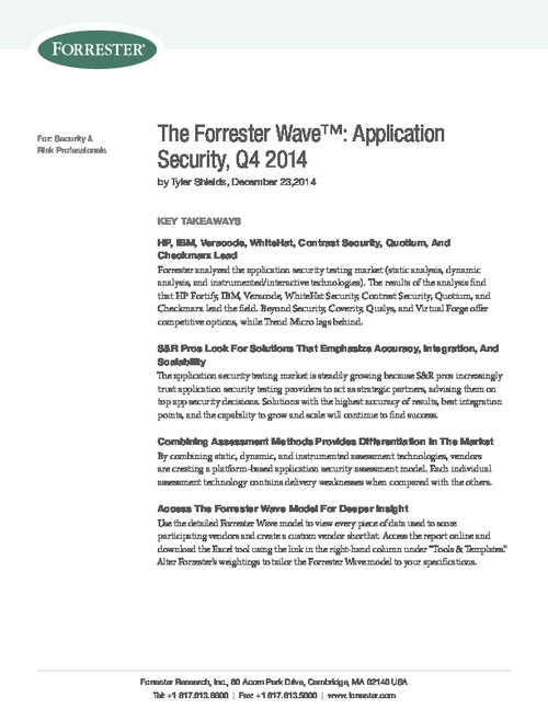 The Forrester Wave: Application Security
