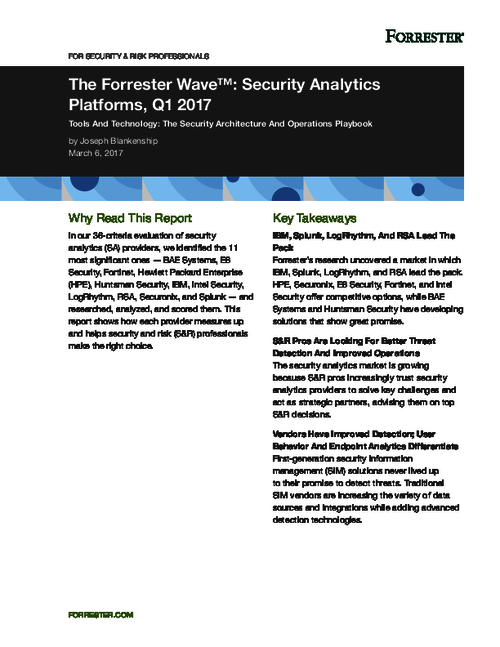 Forrester: SIM Is Evolving Into Security Analytics