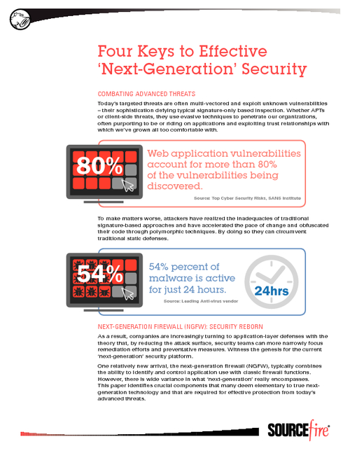 Four Keys of Effective 'Next Generation' Security