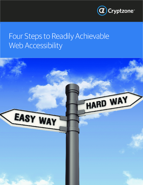 Four Steps To Readily Achievable Web Accessibility