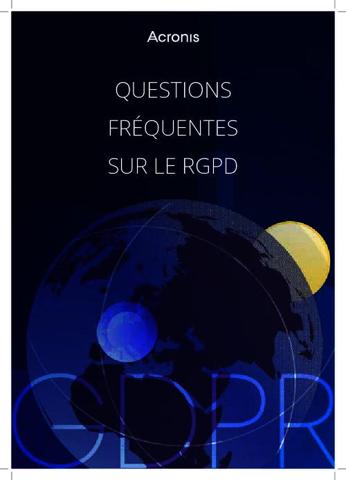 Frequently Asked Questions About GDPR (French Language)