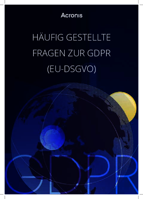 Frequently Asked Questions About GDPR (German Language)