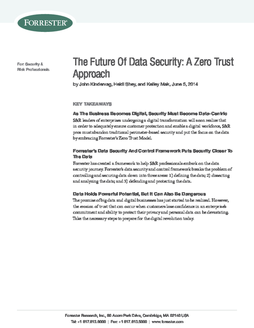 The Future Of Data Security: A Zero Trust Approach