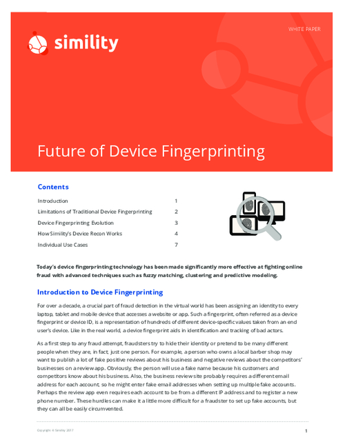 The Device Fingerprinting Evolution