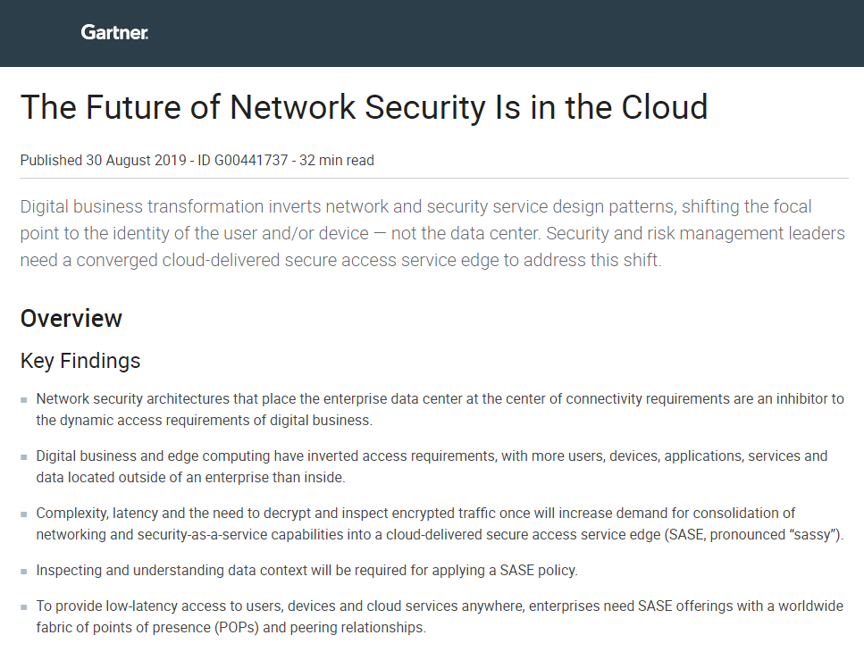 The Future of Network Security Is in the Cloud