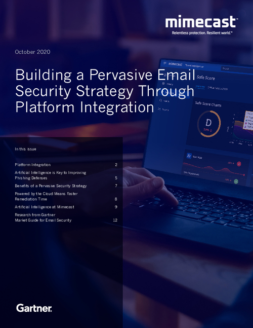 Gartner Newsletter: Building a Pervasive Email Security Strategy Through Platform Integration