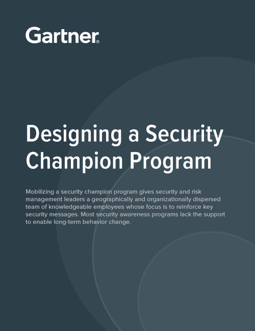 Gartner Report: Designing a Security Champion Program