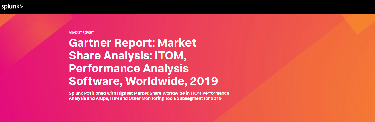 Gartner Report: Market Share Analysis: ITOM, Performance Analysis Software, Worldwide, 2019