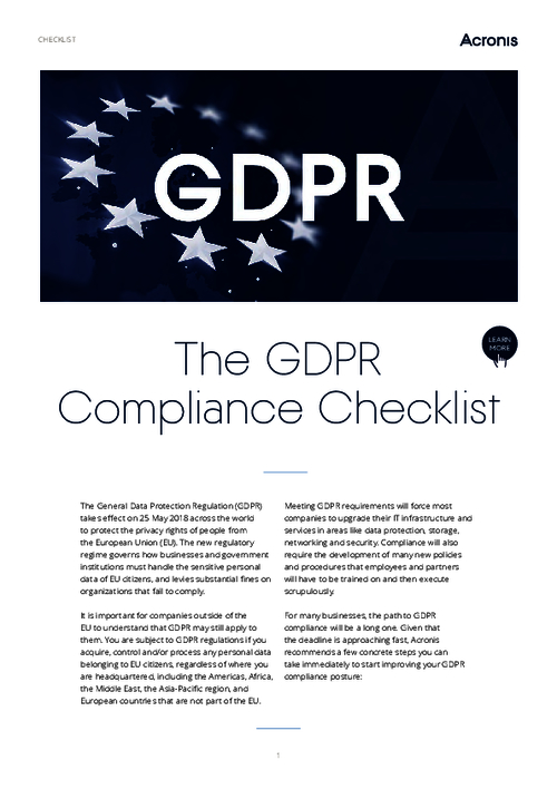 GDPR Compliance Checklist: What You Need To Know Even If You Are Not in The EU