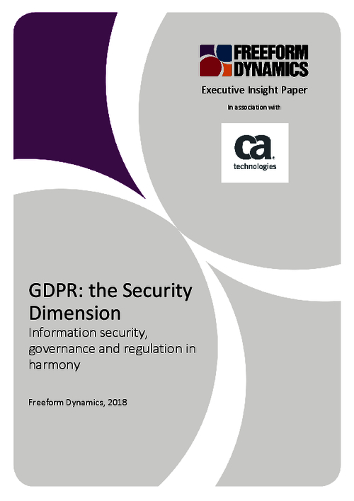GDPR: Information Security, Governance, and Regulation in Harmony