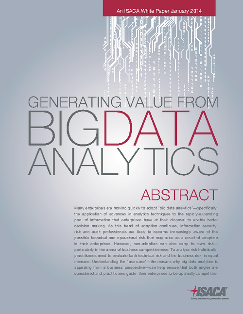Generating Value From Big Data Analytics