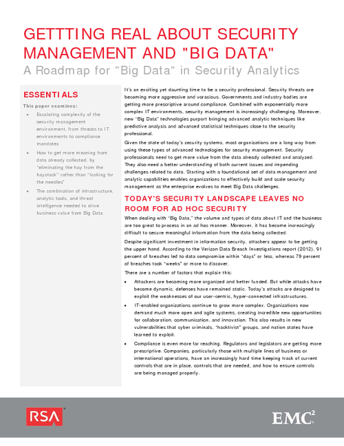 Getting Real About Security Management & Big Data