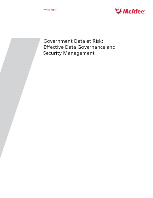 Government Data at Risk: Effective Data Governance and Security Management