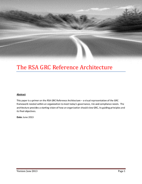 GRC Reference Architecture