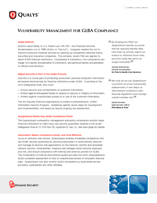 Guide to GLBA Risk Management Compliance