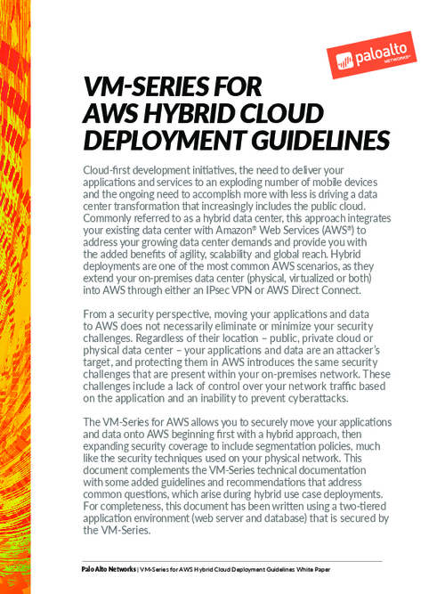 Guidelines for AWS Hybrid Cloud Deployments