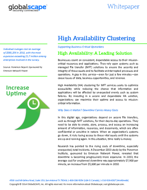 Business Continuity: Leveraging High Availability Clustering