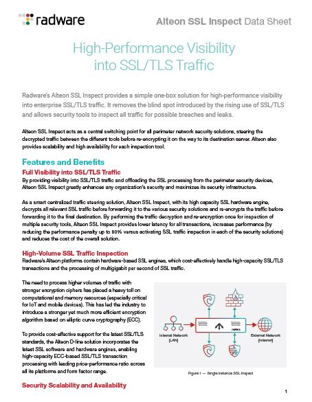 High-Performance Visibility into SSL/TLS Traffic