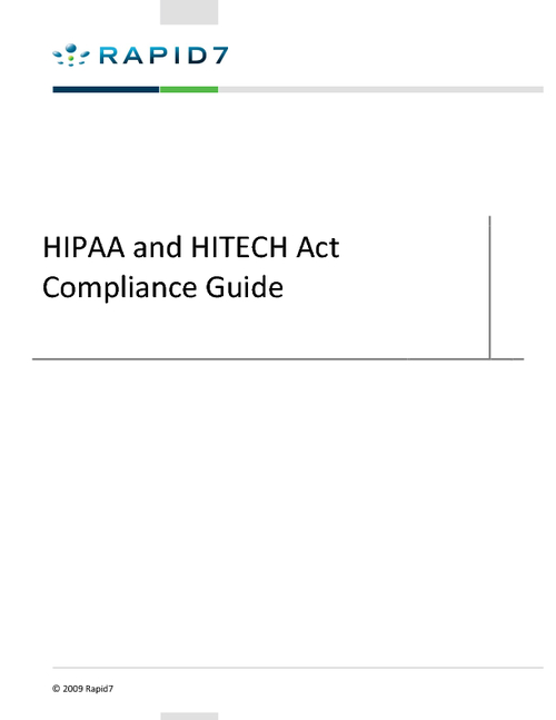 HIPAA and HITECH Act Compliance Guide